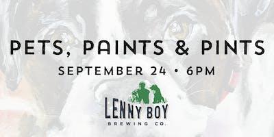 Pets, Paints & Pints at Lenny Boy Brewing