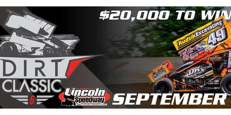 """Dirt Classic """"6"""" Lincoln Speedway- Featuring All-Star Circuit of Champions & PA Posse 410 Sprint Cars tickets"""