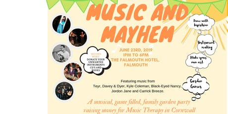 'Music and Mayhem' Music Therapy Fundraiser tickets