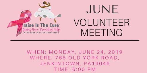 Praise Is The Cure | June 2019 Volunteer Meeting