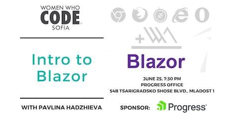 Intro to Blazor tickets