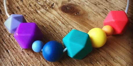 Mother and Baby Design and MAKE your own teething necklace tickets