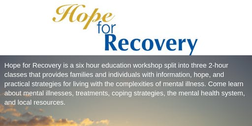 3 Class Hope For Recovery at Dover Behavioral Health June 25-27