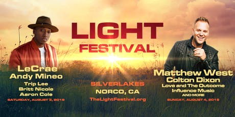 Light Festival - SilverLakes, August 3 & 4 with Matthew West, LeCrae, Andy Mineo, Colton Dixon, Trip Lee tickets