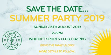 Simply Lunch Summer Party 2019 tickets
