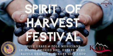 3rd Annual Spirit of Harvest Festival tickets