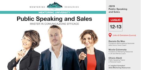 Public Speaking & Sales biglietti