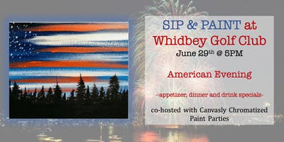 All American Evening Paint&Sip @ Whidbey Golf Club