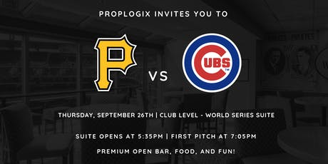 PropLogix: Pirates vs. Cubs  tickets