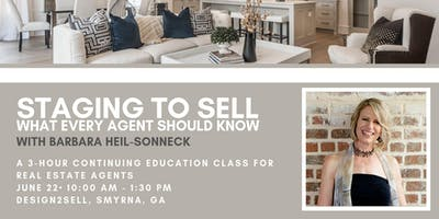 Real Estate Agent CE Class: Staging to Sell - June 2019