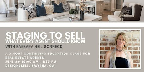 Real Estate Agent CE Class: Staging to Sell - June 2019 tickets