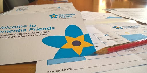 Become a Dementia Friend: Dementia Friends information session Thurs 4/7/19