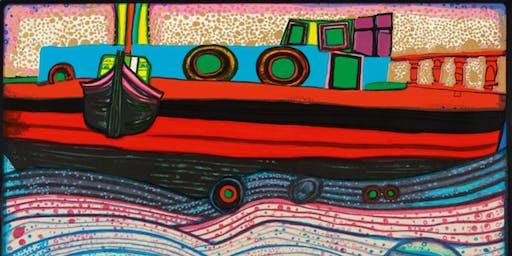 """Waves of Love"" by Hundertwasser (Kids Art Workshop)"