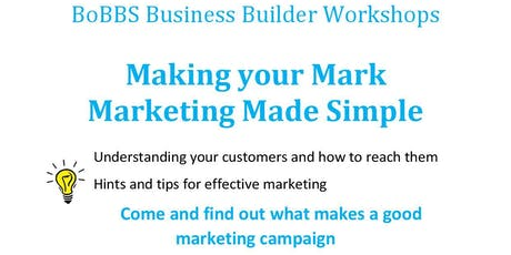 Making your Mark, Marketing Made Simple tickets