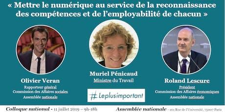 """Colloque """"Numérique & reconnaissance des compétences"""" - Assemblée nationale tickets"""