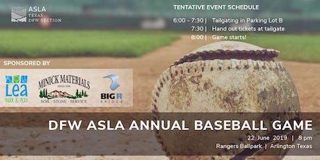 DFW ASLA Annual Baseball Game tickets