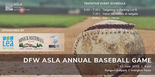 DFW ASLA Annual Baseball Game