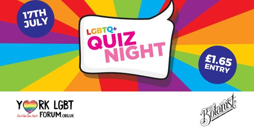 YORK LGBT FORUM QUIZ NIGHT