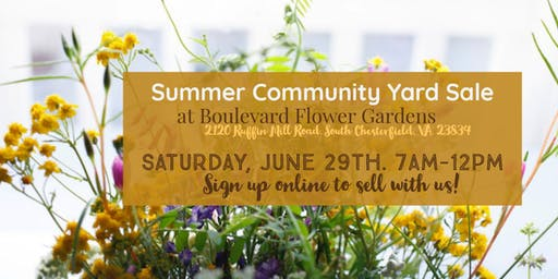 Summer Community Yard Sale at BFG!
