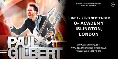 Paul Gilbert (O2 Islington, London)