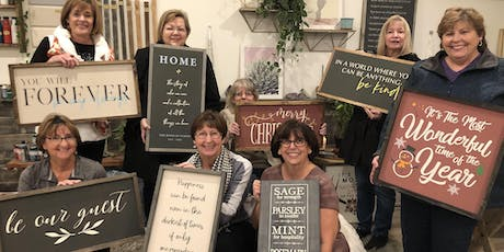 Wood Sign Workshop! Choose any design in our gallery  tickets
