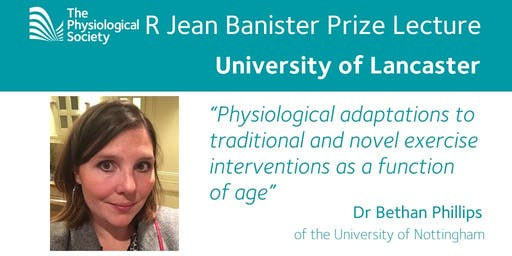 R Jean Banister Prize Lecture - Monday 15th July 2019