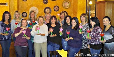 Wine Glass Painting Class at The Well Coffee Lounge 8/1 @ 6:30 pm