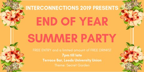 Interconnections 2019 End of Year Summer Party tickets