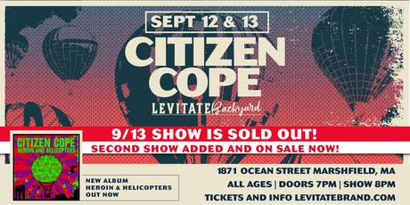 Citizen Cope @ Levitate Backyard - Thursday, 9.12 tickets
