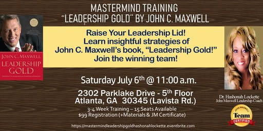 Mastermind Leadership Gold - Dr Hashonah Lockette