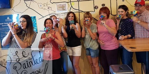 Wine Glass Painting Class @ Roadrunner Coffee 7/12