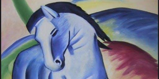 """Blue Horse 1"" by Franz Marc (KIDS ART WORKSHOP)"