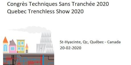 COMMANDITES 2020 - Congrès Techniques Sans Tranchée billets