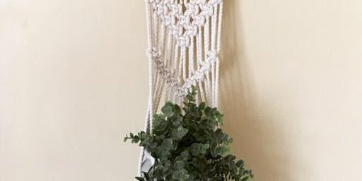 6/21 $35 Macrame Plant Hanger by Why Knot @ Paint Like ME Studio