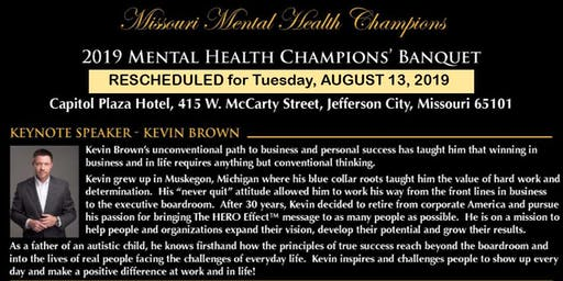 2019 Mental Health Champions' Awards Banquet Tickets