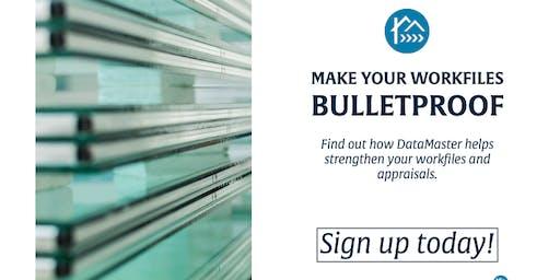Make Your Appraisal Workfile Bulletproof with DataMaster - Norwalk
