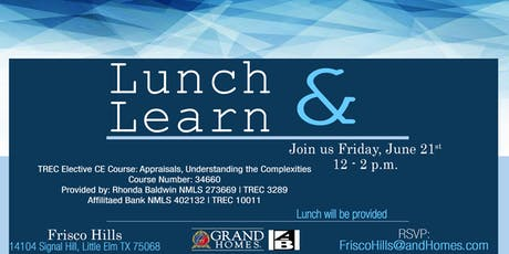 Lunch & Learn at Frisco Hills tickets