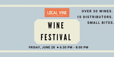 Local Vine Wine Festival tickets