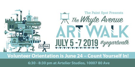 Count Yourself In for the Whyte Avenue Art Walk Volunteer Orientation tickets
