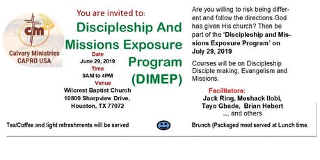 DIMEP -Discipleship and Missions Exposure Program tickets