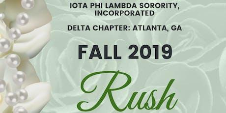 Delta Chapter of Iota Phi Lambda Sorority, Inc.  Fall 2019 RUSH tickets