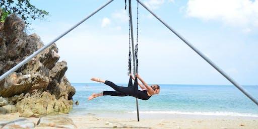Aerial Yoga Class with Liz - 26 Jun