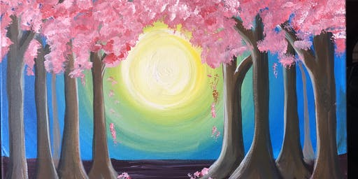 """""""Pink is the new green"""" paint Night banff"""