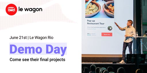 Demo Day - Come see our students' web apps - Le Wagon Rio Coding Bootcamp #261