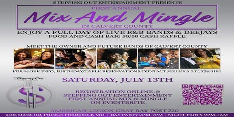 Stepping Out Entertainment First Annual Mix & Mingle in Calvert County tickets