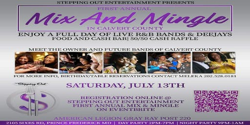 Stepping Out Entertainment First Annual Mix & Mingle in Calvert County