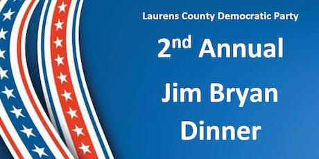 2nd Annual Jim Bryan Dinner tickets
