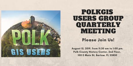 POLKGIS Users Group Meeting on August 15, 2019 entradas