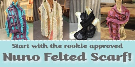 Nuno Felted Scarf Class - Beginner Level tickets
