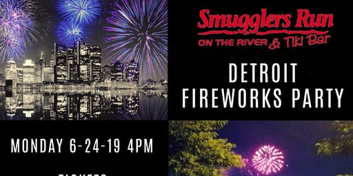 Detroit Fireworks Watch Party at Smugglers Run